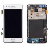 Vitre Tactile + Ecran LCD + Chassis SAMSUNG Galaxy S2 i1900 - BLANC - GH97-12712A