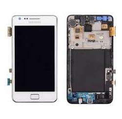 Vitre Tactile + Ecran LCD + Chassis SAMSUNG Galaxy S2 i1900 - BLANC - GH97-12712A