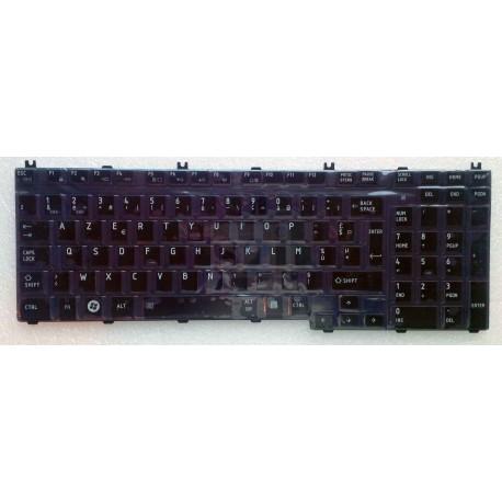 CLAVIER AZERTY TOSHIBA L505 - K000086060 - NOIR