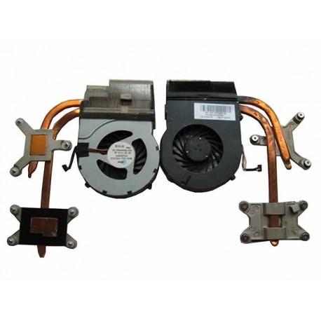 Ventilateur + radiateur Occasion HP DV6-3000, DV6-4000, DV7-4000 series - Gar.3 mois - 637610-001 - Intel