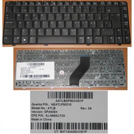 CLAVIER TECLADO QWERTY ESPAGNOL SPAIN HP V6000, F500, F700 - AEATLP00210 - 9J.N8682.F2S