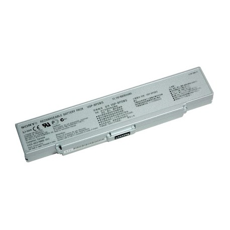 BATTERIE NEUVE COMPATIBLE SONY VGN-AR550 VGN-AR550E VGN-AR550U VGN-AR570, PCG-5J1M - 4400mah - 11.1V - Argent