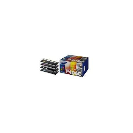PACK TONERS SAMSUNG NOIR CYAN MAGENTA JAUNE CLX-3300 - CLT-P406C