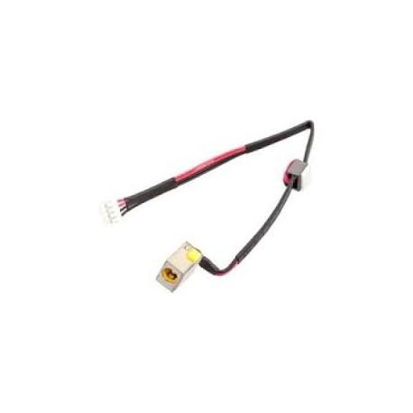 Connecteur alimentation carte mère portable + câble Packard Bell Easynote TV44, NV52L - 50.RZGN2.001 - 65W