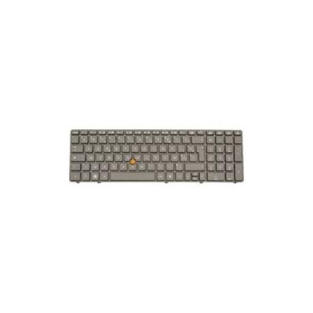 CLAVIER AZERTY NEUF HP EliteBook 8560W - 652682-051 - Avec Pointstick