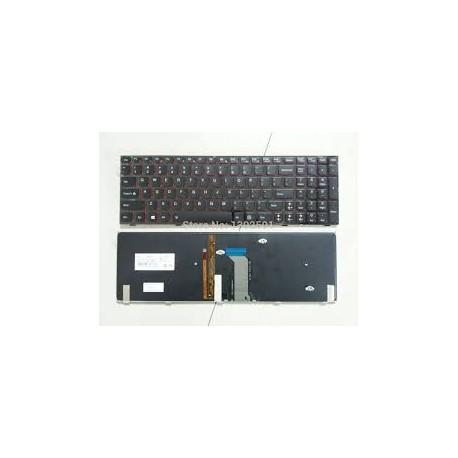 CLAVIER AZERTY NEUF IBM LENOVO Y400, Y410, Y410P - T2B9-LSP - 25205385 - PK130RQ3B15 - 9Z.N5TBC.41E - Rétroéclairé