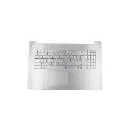 CLAVIER AZERTY NEUF + COQUE + TOUCHPAD ASUS N750, N750JV, N750JK - GRIS - 90NB0201-R32FR0
