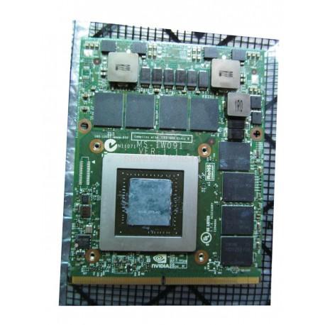 CARTE VIDEO NEUVE MSI NVIDIA GeForce GTX675MX 4GB DDR5 MXM 3.0 - N13E-GSR-A2 - MS-1W091