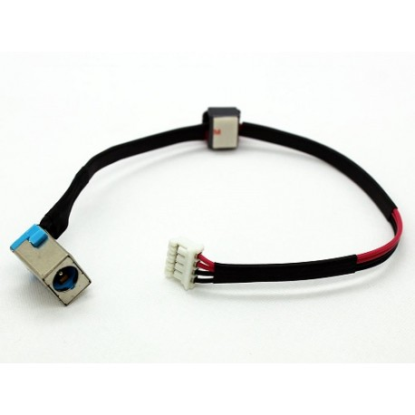 CONNECTEUR CARTE MERE + CABLE Packard Bell Easynote TS11HR, TS44HR, Acer Aspire 5750 - DC30100D000 - 90W