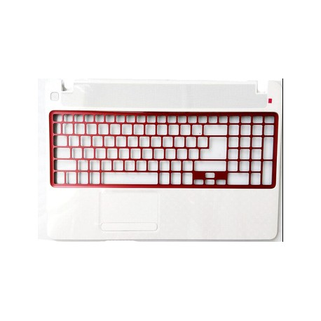 COQUE SUPERIEURE NEUVE PACKARD BELL NV52L, NV56R, TV44, TV44HC - 60.Y19N2.001 - Coque Blanche, Grille Rouge - 60.Y1BN2.001