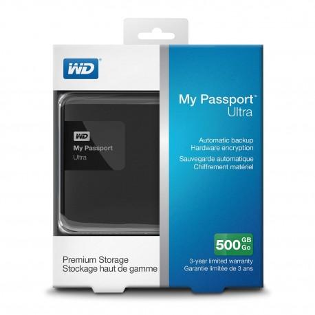 Disque dur Externe WD My Passport 500Go USB3.0 - Gar.1 an
