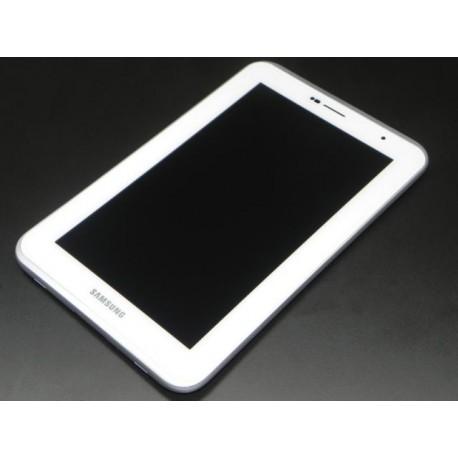 ENSEMBLE VITRE TACTILE + ECRAN LCD + CADRE SAMSUNG Galaxy Tab 2 GT-P3110 Blanc - GH97-13560B - Neuf
