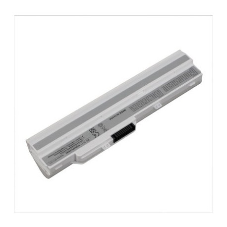 BATTERIE NEUVE COMPATIBLE MSI, MEDION - BTY-S11, 957-N0XXXP-101 - BTY-S12 - Blanche - 11.1V - 4400mah