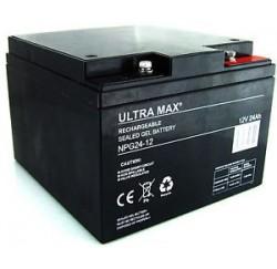 BATTERIE ETANCHE NEUVE Ultra Max - NP26-12 - 12V - 24Ah/26AH