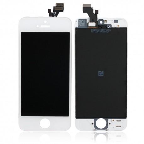 VITRE TACTILE + ECRAN LCD APPLE Iphone 5S - BLANC
