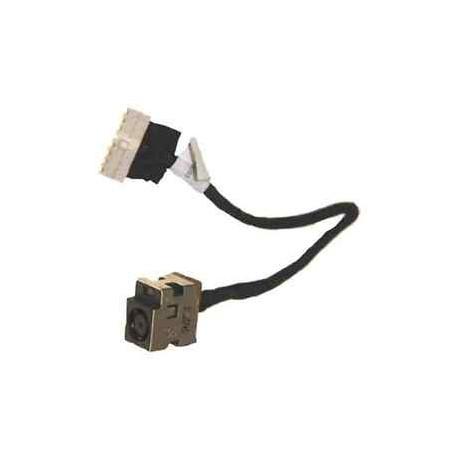 Connecteur carte mère DC Jack + Cable - HP Pavilion G72, G62, Presario CQ72- Version AMD - TLDC241 - DD0AX8PB000