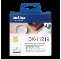 BOBINE Étiquettes, Ø 12 mm, 1.200 pièces - Brother QL-1050, QL-700 - DK-11219