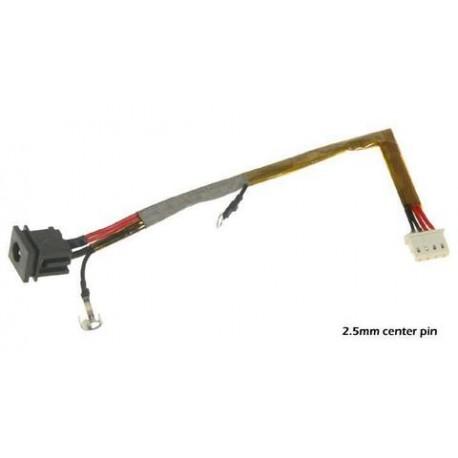 Connecteur alimentation DC power Jack + Cable TOSHIBA Satellite U300, U305, Pro U300, Tecra M8 series - A000018220 - TLDCHT28