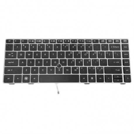 CLAVIER AZERTY NEUF HP EliteBook 8460w, 8460P - 642760-051 - Gar.1 an - avec pointstick - Avec Grille - Grils/Silver