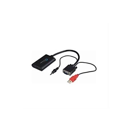 CONVERTISSEUR VGA MALE vers HDMI FEMELLE + AUDIO -