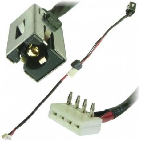 Connecteur alimentation DC Power Jack + Câble TOSHIBA Satellite A665, A660, C660, C60D, P775 - DC30100AA00- Gar.3 mois