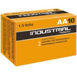 Lot de 10 piles Duracell INDUSTRIAL, 1,5 V, LR6 AA - MN1500/LR6