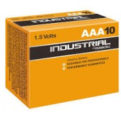 Lot de 10 piles Duracell INDUSTRIAL, 1,5 V, LR3, AAA Micro MN2400/LR03