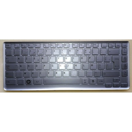 CLAVIER AZERTY NEUF TOSHIBA T230 Series - K000094980 - K000094660 - Silver - Argent - NSK-TP0PC - 9Z.N4XPC.00F