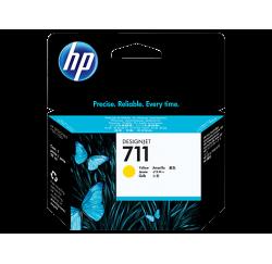 Cartouche d'encre HP 711 DesignJet Série T120 / T520 JAUNE 29ml CZ132A