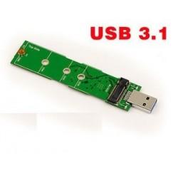 CONVERTISSEUR NVMe SSD (M-Key) NGFF vers USB 3.1