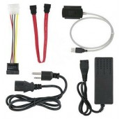 KIT ADAPTATEUR HDD 2.5/3.5 IDE SATA vers USB + CHARGEUR