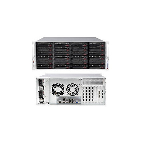 Serveur Stockage Rack 4U Supermicro - 24 Disques durs HotSwap -1280W