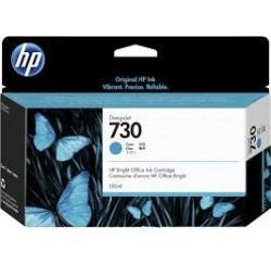 Cartouche Encre Cyan HP designjet T1600 T1700 N°730 130ml P2V62A
