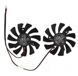 Kit ventilateur MSI GTX1050TI - HA8010H12F-Z - 2PINS