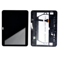 ENSEMBLE ECRAN LCD + VITRE TACTILE + CADRE SAMSUNG Tab 4 SM-T530 - Noir