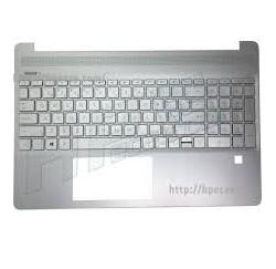 CLAVIER AZERTY + COQUE BLEUE HP 15-CS 15-CW - L49391-051