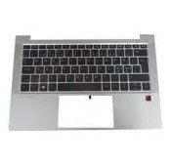 CLAVIER AZERTY RETROECLAIRE + COQUE SILVER HP EliteBook 830 G7 - M08699-051 - Gar 6 mois