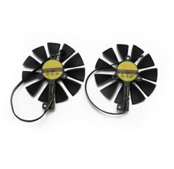 KIT 2 VENTILATEURS GAMING ASUS GeForce RTX2080 RTX2070 87mm T129215SH FDC10U12S9-C - Gar 1 an