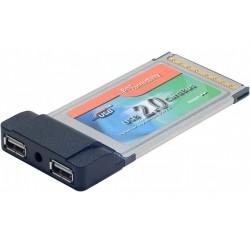 Carte PCMCIA pour ordinateur portable - 2 ports USB 2.0