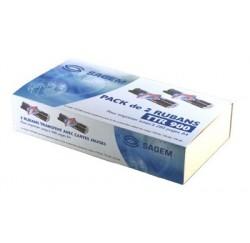 RUBAN TRANSFERT SAGEM PACK DE 2 - TTR900x2