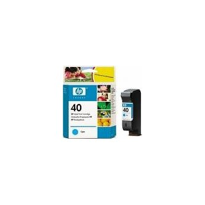 CARTOUCHE HP CYAN DeskJet 1200C/1600C - Designjet1200/1600 - No40 - 42ml - 51640CE