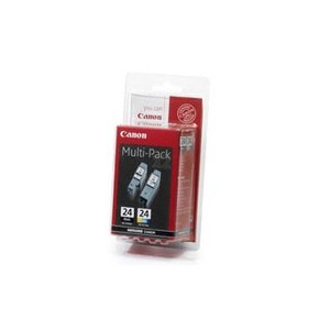 CARTOUCHES CANON MULTIPACK BCI24BK+BCI24C