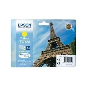CARTOUCHE EPSON JAUNE WorkForce Pro WP-4015DN - XL 2000 PAGES - C13T70244010