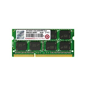 Mémoire SO-DIMM DDR3 4Go 1333 Mhz - Gar.2 ans - KVR1333D3S9/4G