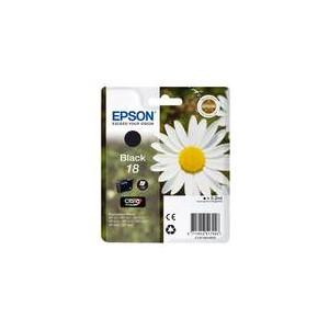CARTOUCHE EPSON NOIRE N°18 XP-102, XP-205, XP-405 - C13T18014010 - 5.2ml, ~175 pages, Standard